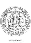 Wyoming State Seal Coloring Page Coloring Pages Free Coloring
