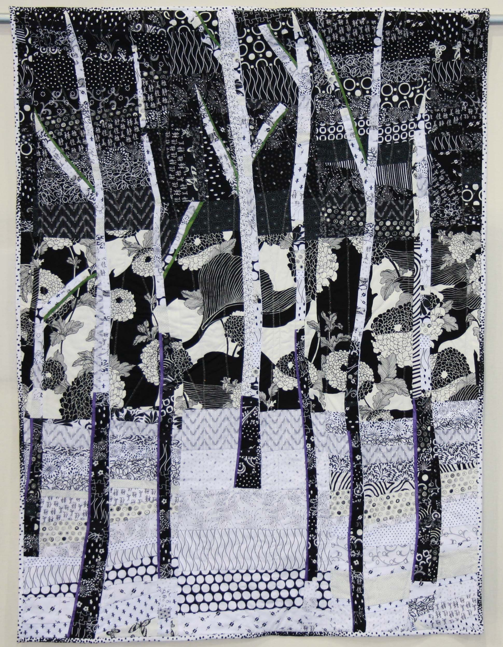 Pamela jensen aspen night black and white quilts quilted gifts contemporary quilts