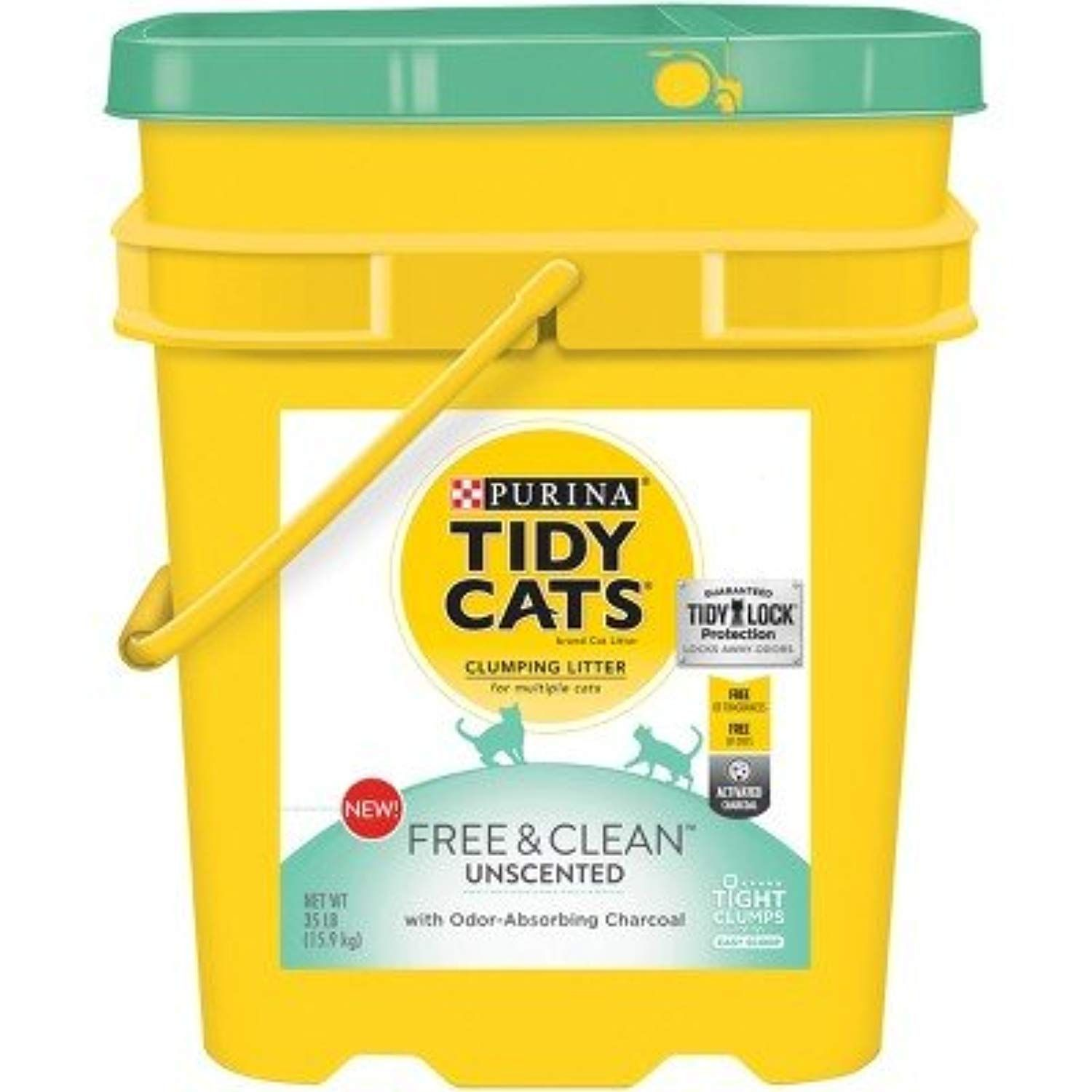 Tidy Cats Free and Clean Unscented Cat Litter 35lb