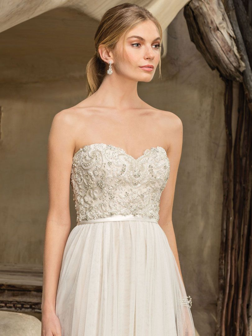 Casablanca bridal style piper strapless wedding gowns