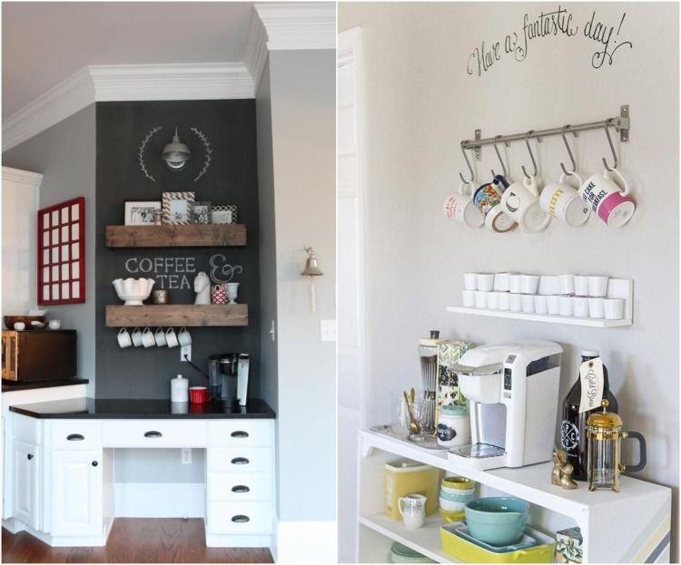 kleine kaffee bar in der k che gestalten inspirations. Black Bedroom Furniture Sets. Home Design Ideas