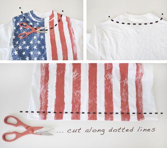 c1010d29c5f8dd DIY American Flag Fringe Crop Top