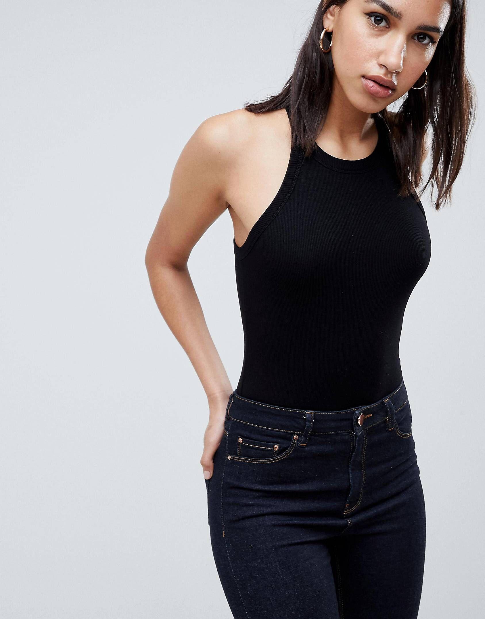 efe3eefaeef1 DESIGN high neck cutaway body in rib in black in 2019 | Closet goals ...