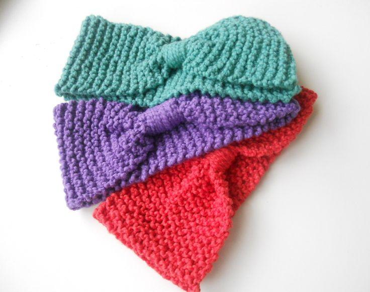 pinterest knitted headbands | knitted headband pattern ...