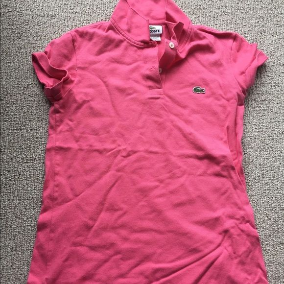 Pink Lacoste Polo Shirt Rarely worn. Lacoste Tops