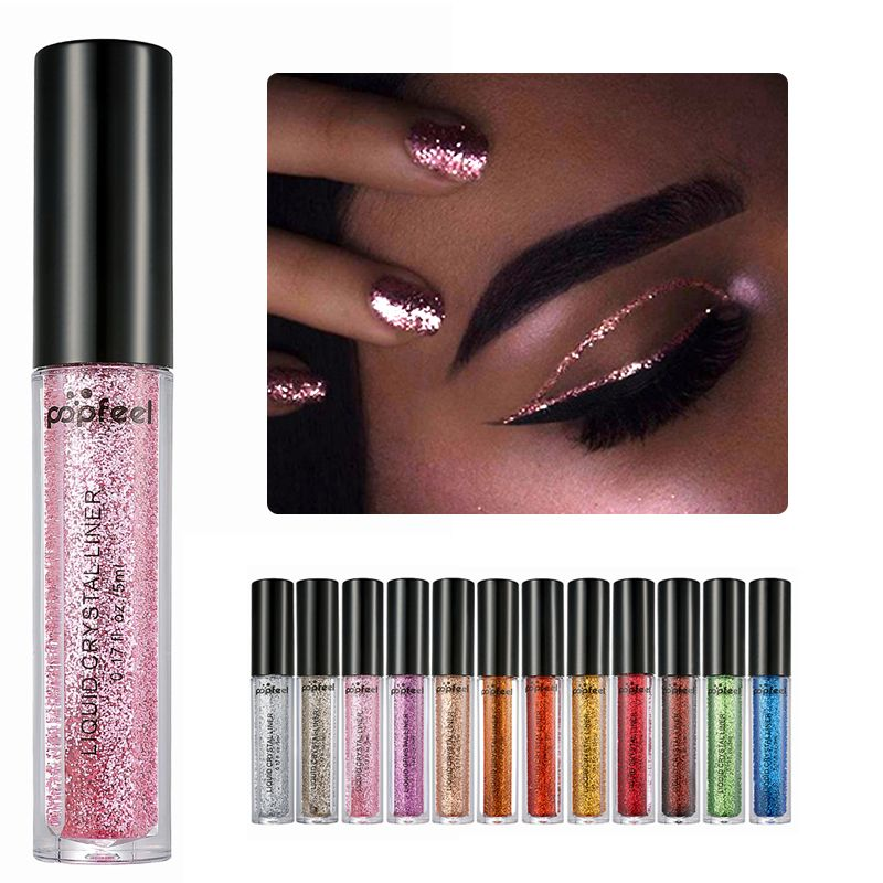 Beauty & Health Nice Pigment Silver Rose Gold Color Liquid Cosmetics For Women Professional New Shiny Eye Liners Glitter Eyeliner Cheap Makeup Making Things Convenient For The People