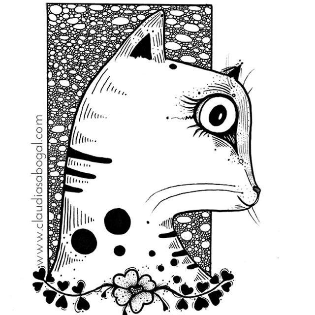 My 😽❤ . . . #illustration #gatos #drawing #inkonpaper #catsofinstagram #graphic #mininos #cats #catslover #sketchbook #doodles #artist #instaart #handdraw #love #amordegatos #modernart #pendrawing #instartist #instaartworks #comic #artoftheday #instaillustration #artcollector #bogotart #artofinstagram #Instagram #bnw #creative #inkdrawing