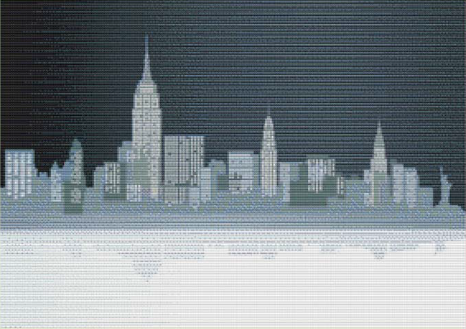 Big city cross stitch pattern pinterest