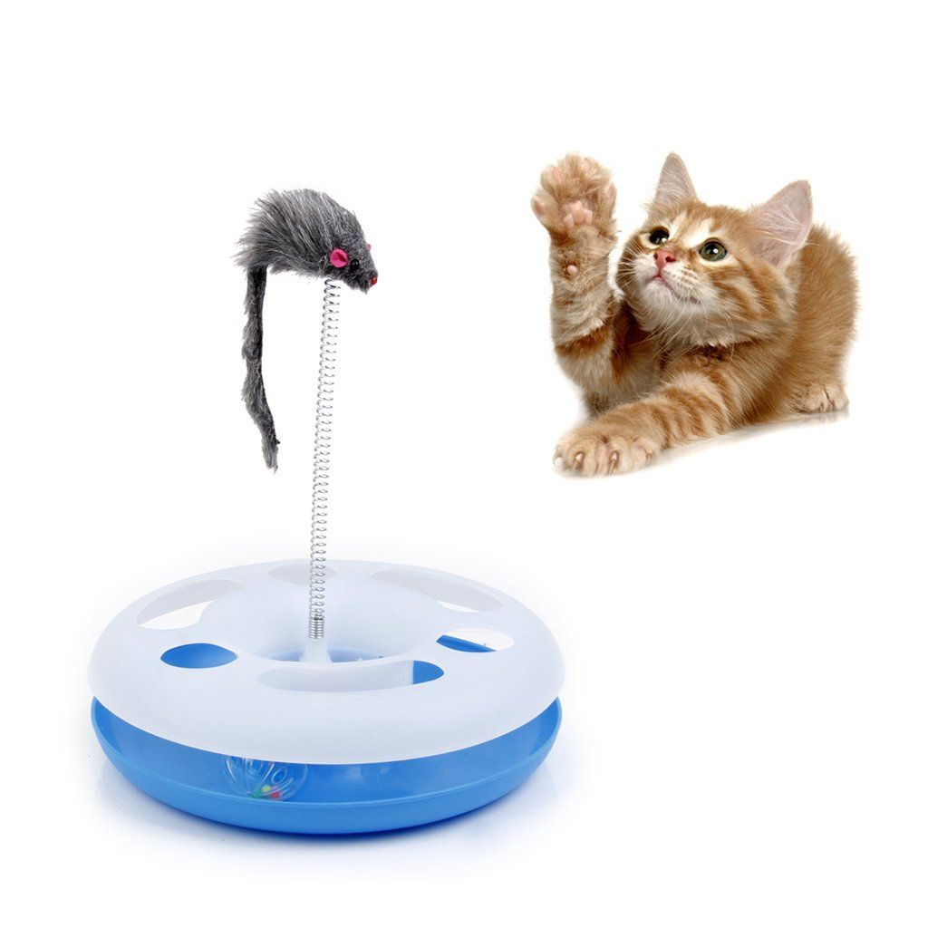 Pet Cat Play Ball Track Spring Toy Mice Activity Training