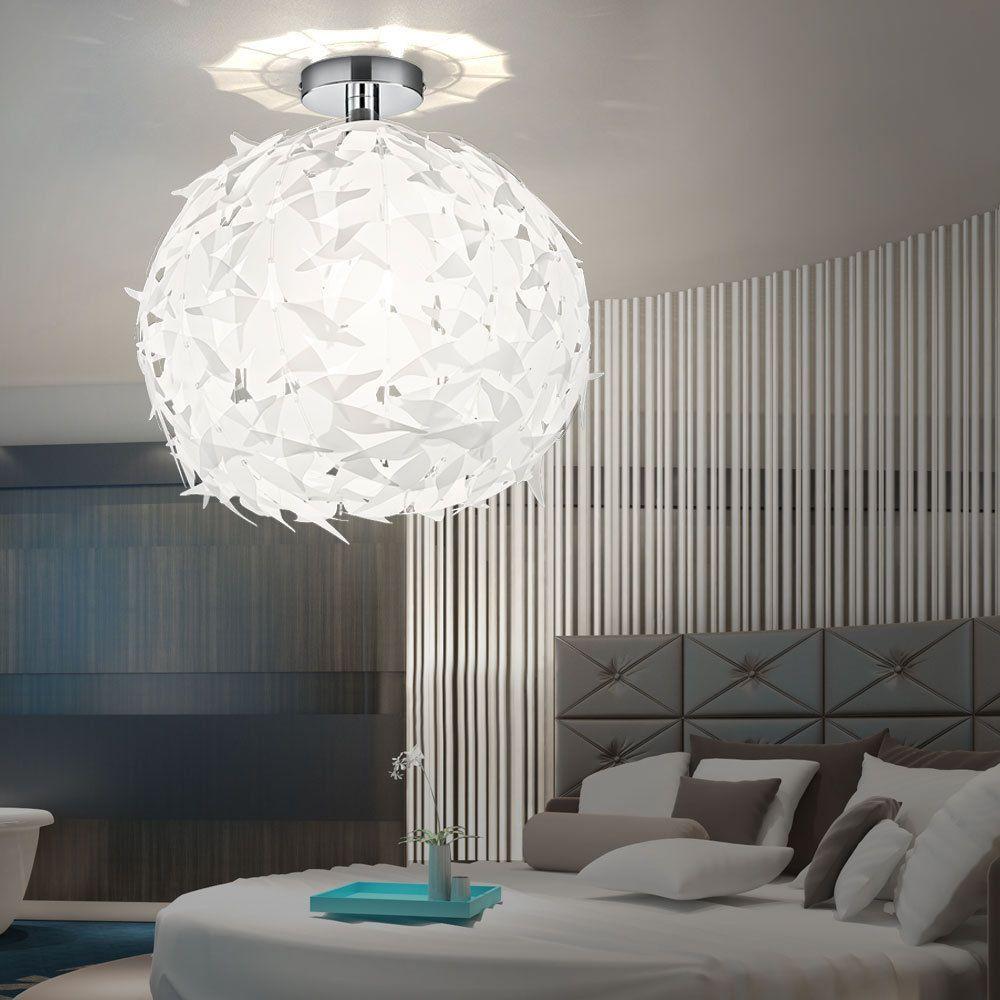 Kugel LED Decken Pendel Hänge Lampe Design Leuchte Blätter Küche