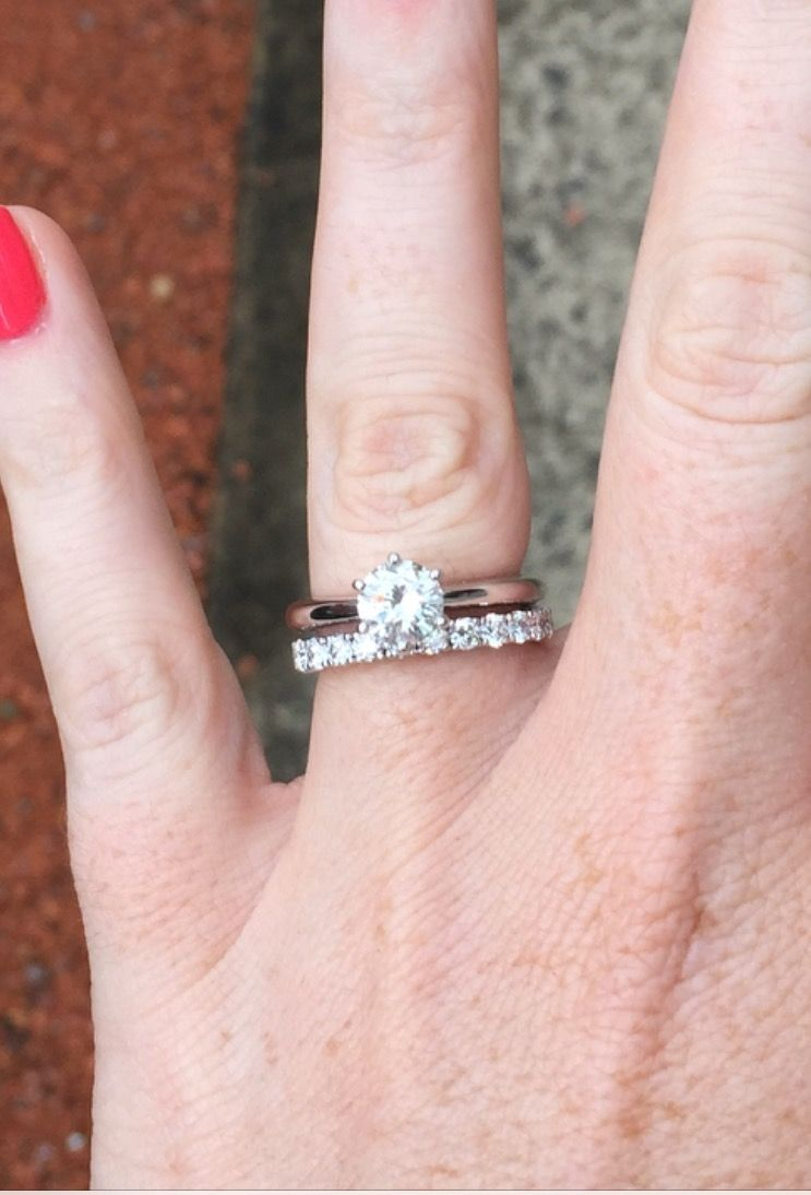 Help chosing my solitaire! Plain or Paved diamond band! - Weddingbee ...
