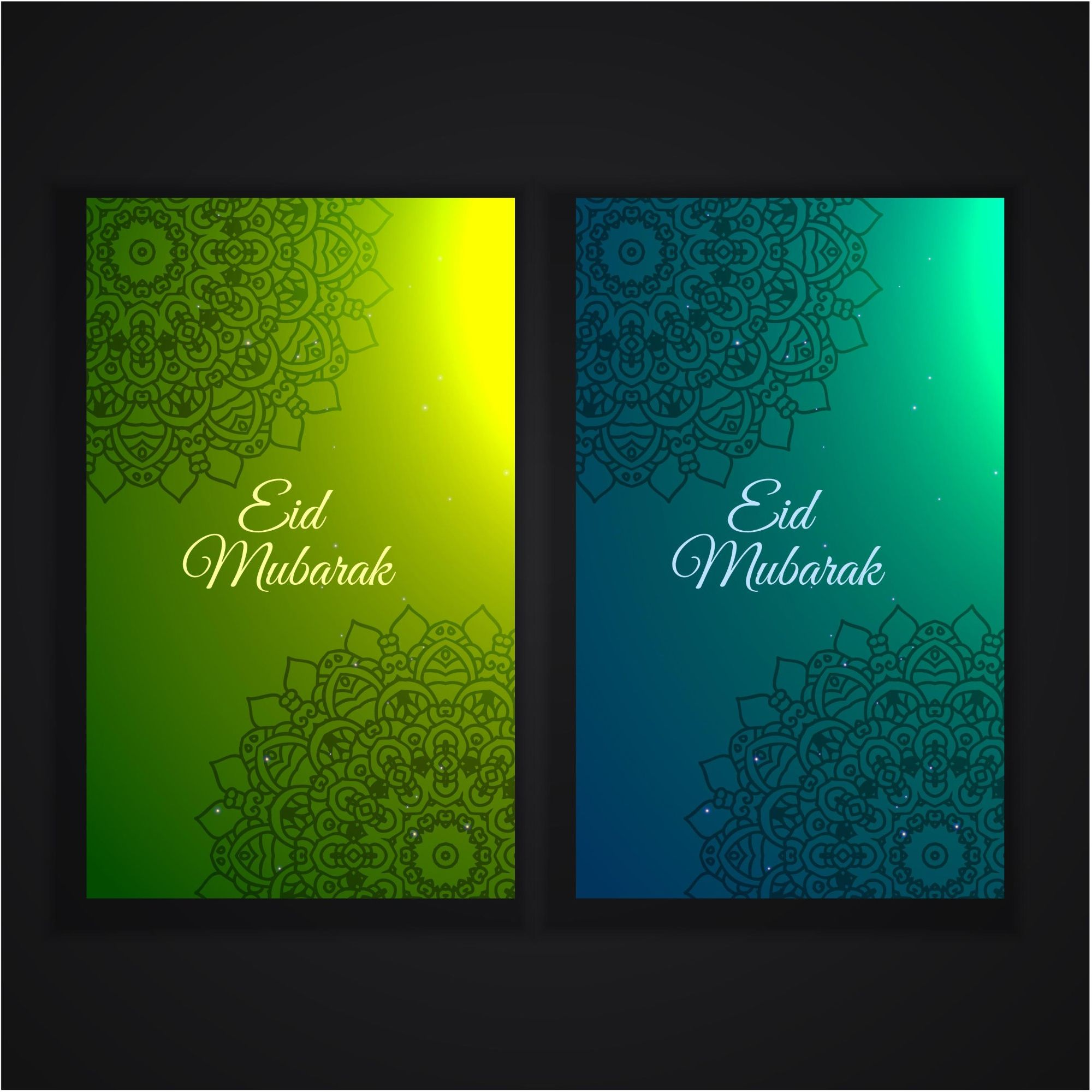 Vector bunting flags lovely celebration card with colorful paper - Grey Greem Wid Mubarak 2017 Greeting Banners Vector Cards Http Www