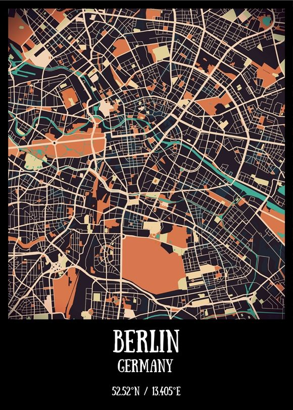 berlin vintage city map