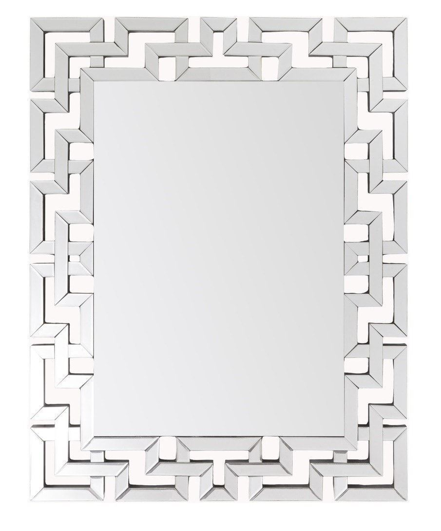 Greek Key Modern Mirror