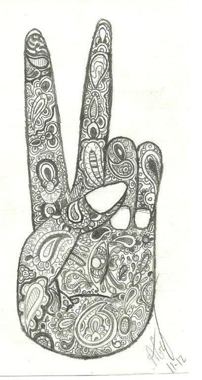 paisley coloring pages peace - photo#27