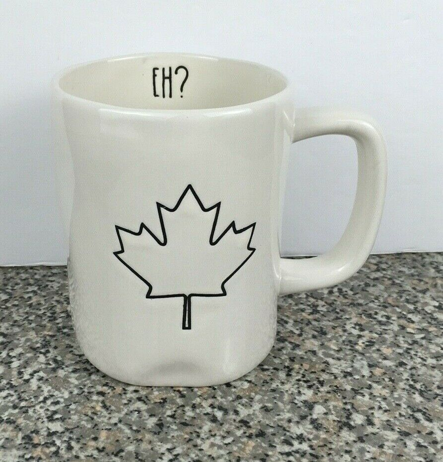 Details about Rae Dunn Canada Mug Maple Leaf EH ? Coffee