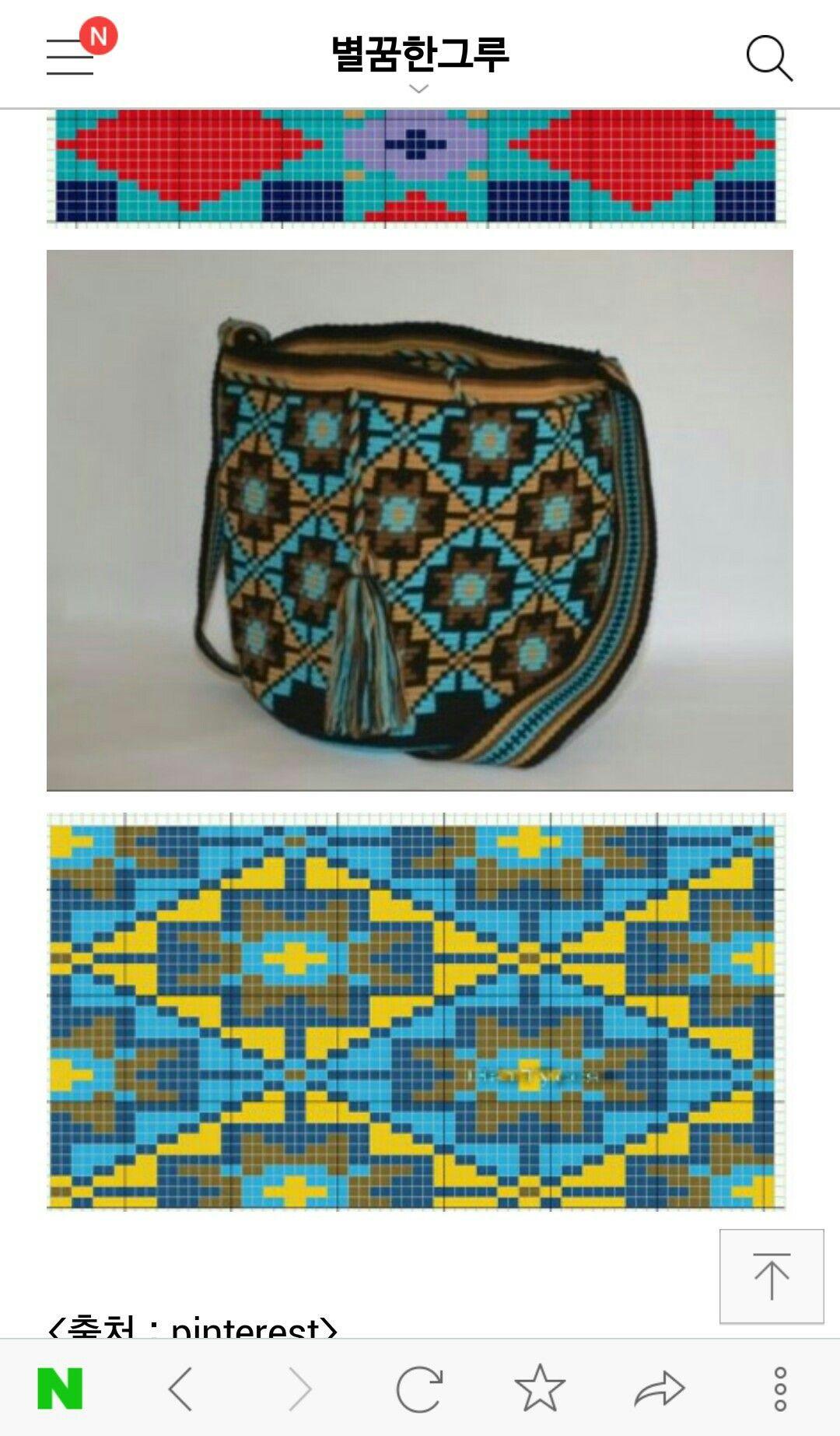 Wayuu Mochila pattern | yarn | Pinterest | Tapestry häkeln, Häkeln ...