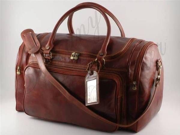 Tuscany Leather - Prague - Sac de voyage en cuir Marron - TL1048/1 y5yE0l2FO