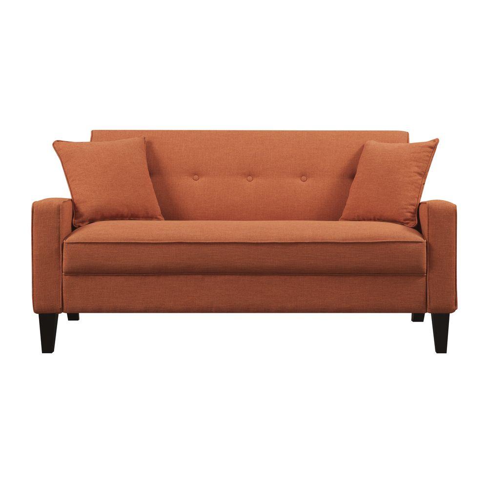 Portfolio Ellie Orange Linen Sofa   Overstock.com Shopping - Great Deals on PORTFOLIO Sofas & Loveseats