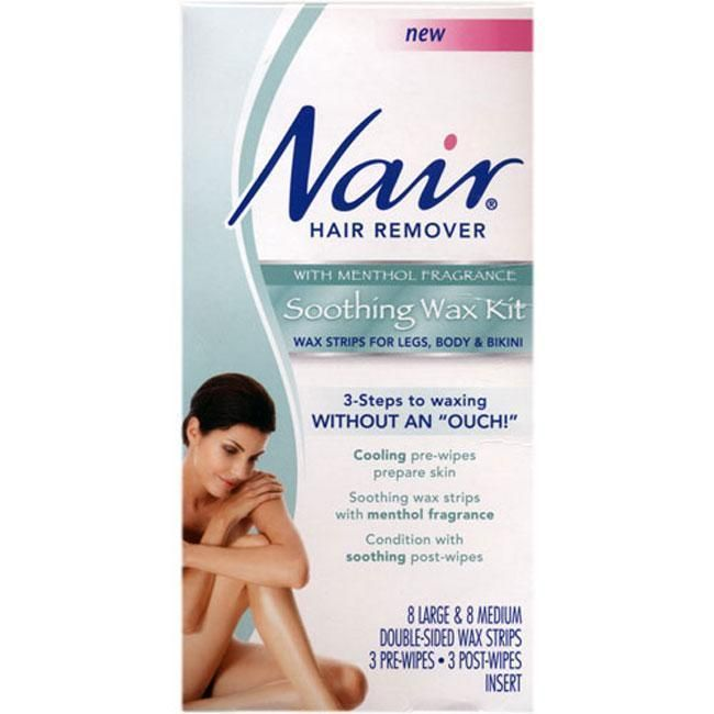 Nair Hair Remover Menthol-scented Soothing Wax Kit