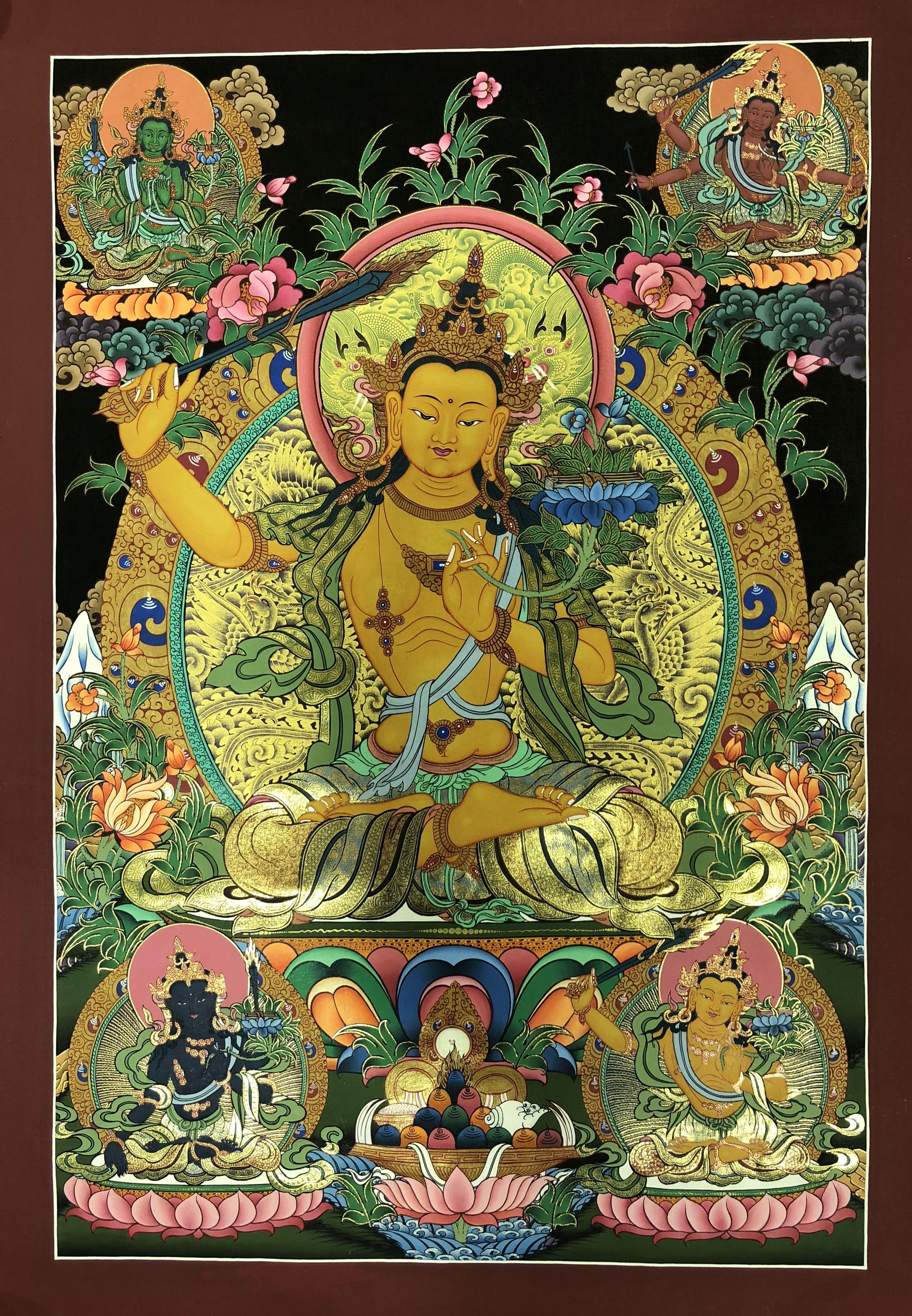 Manjushri   Bodhiszattva --,Dákini   Pinterest   Tibetan art