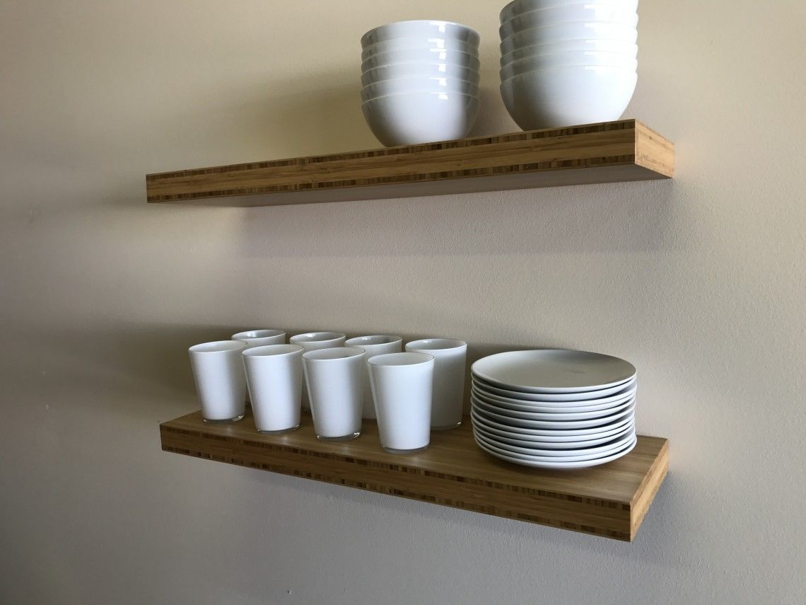 Custom floating shelves made in usa free shipping 10 day lead time custom shelves in wood and stainless steel