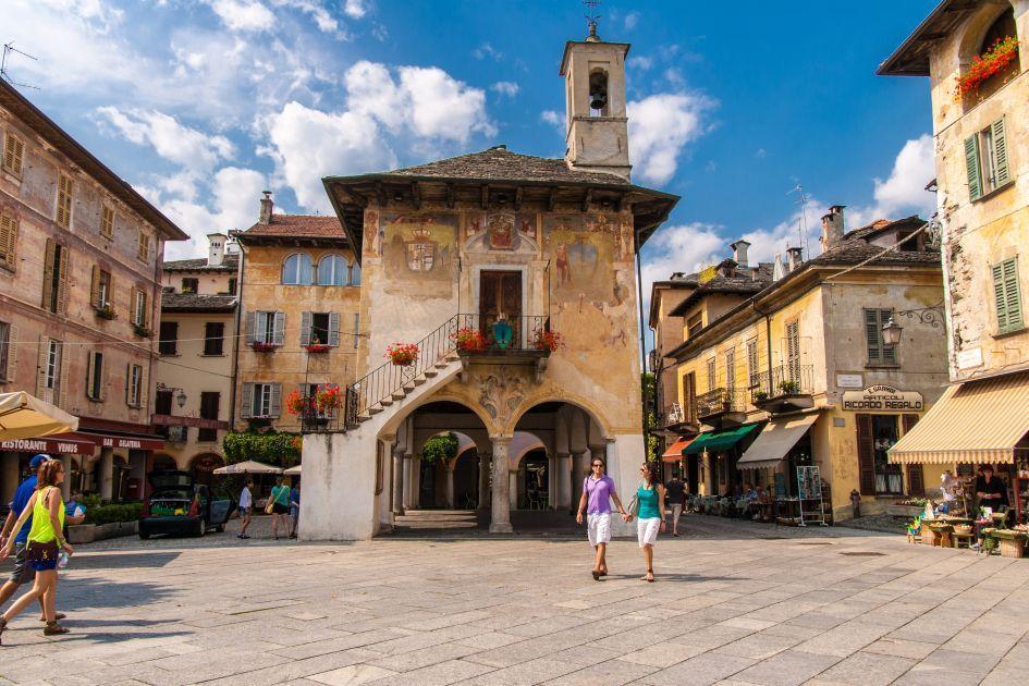 Orta Lake Piedmont North Italy Lago D Orta Italy
