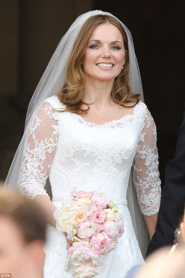 Wedding Dresses 40 Year Old Brides : Victoria beckham sends warm wishes to blushing bride geri