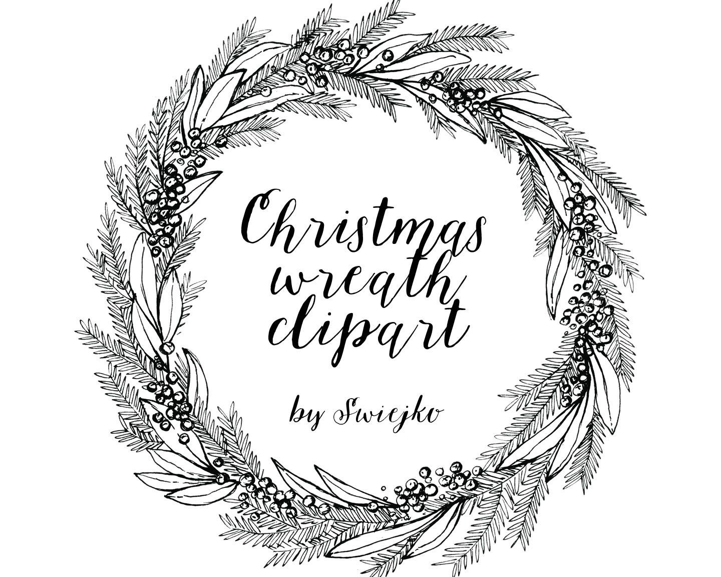 Image Result For Hand Drawn Christmas Wreath Clipart