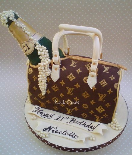 Champagne and LV  Cake by RockCakes
