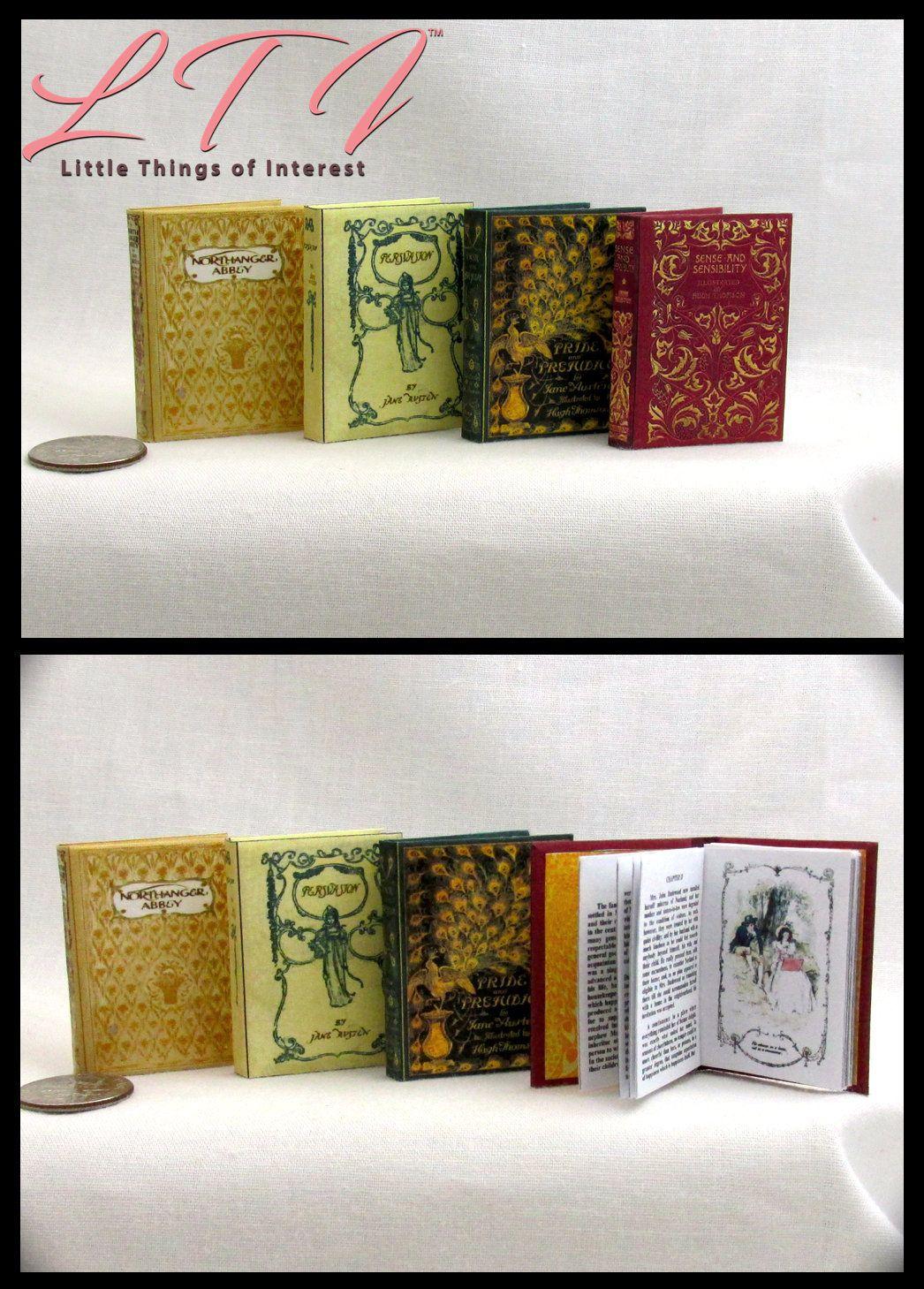 1:6 SCALE MINIATURE BOOK PRIDE AND PREJUDICE ILLUSTRATED JANE AUSTEN PLAYSCALE