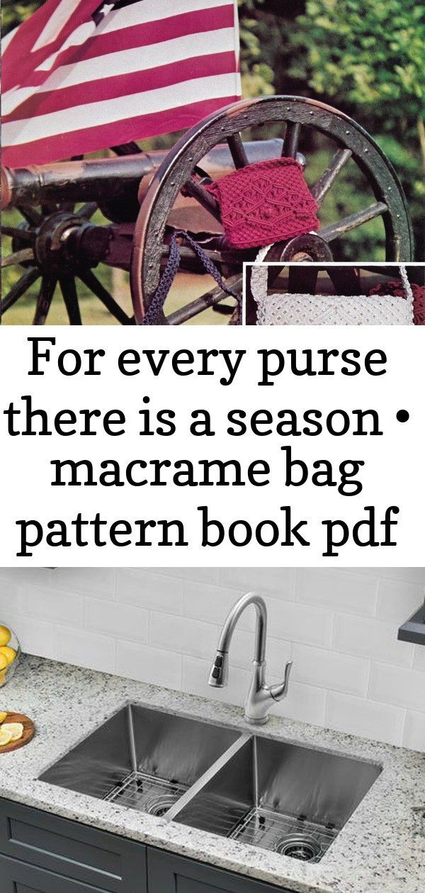 For Every Purse There Is A Season •Macrame Bag + Purse Pattern Book Cahaba 32