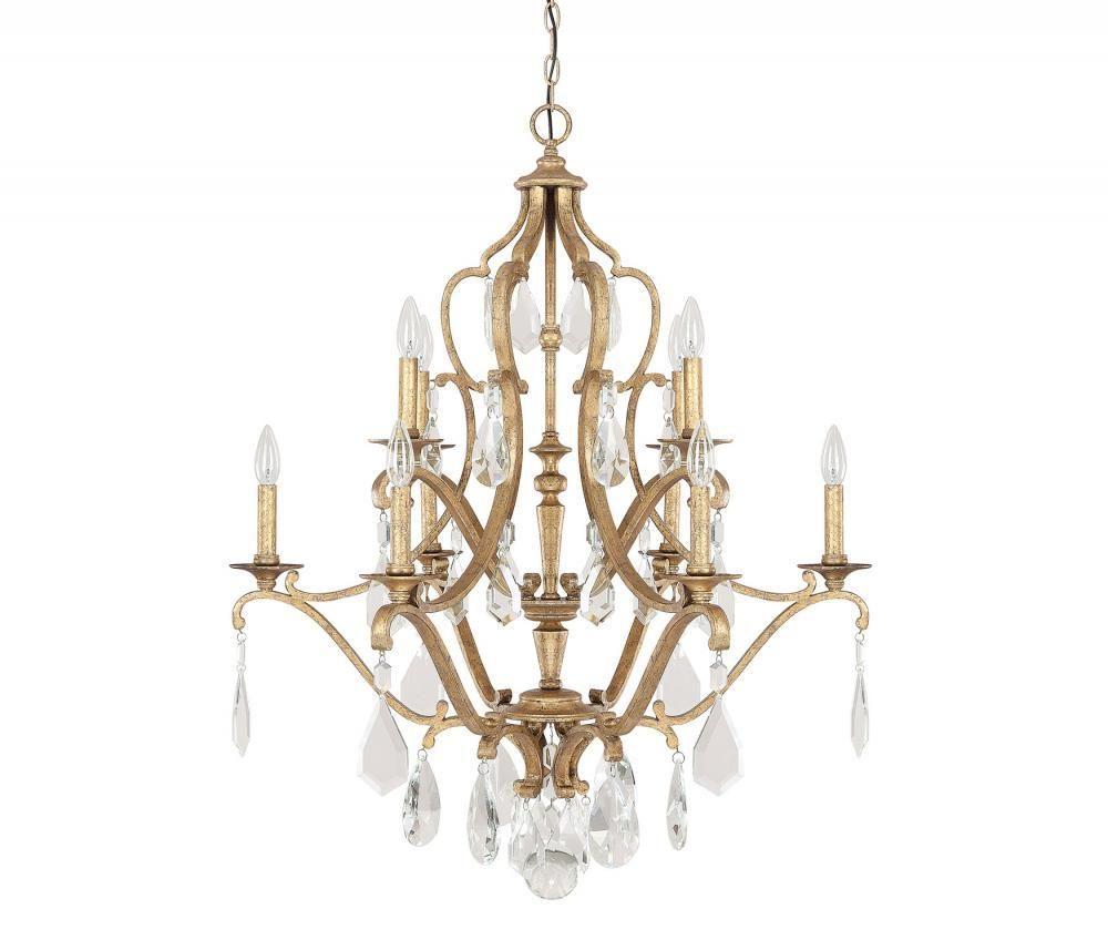 Capital Lighting 4180AG-CR - Blakely 10 Light Chandelier, Antique Gold - Capital Lighting 4180AG-CR - Blakely 10 Light Chandelier, Antique