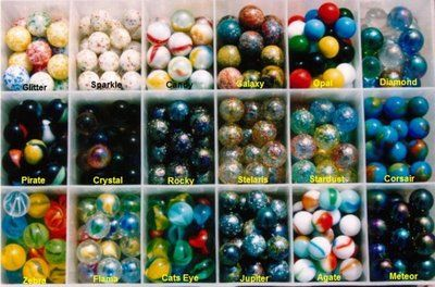 ... . We wind up with a big set of marbles that we're going to work on