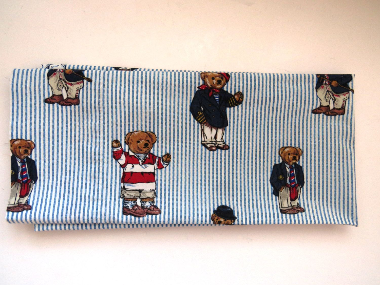 Ralph Lauren Pillowcase Standard Single Pillow Bear Polo Preppy ygYf67b