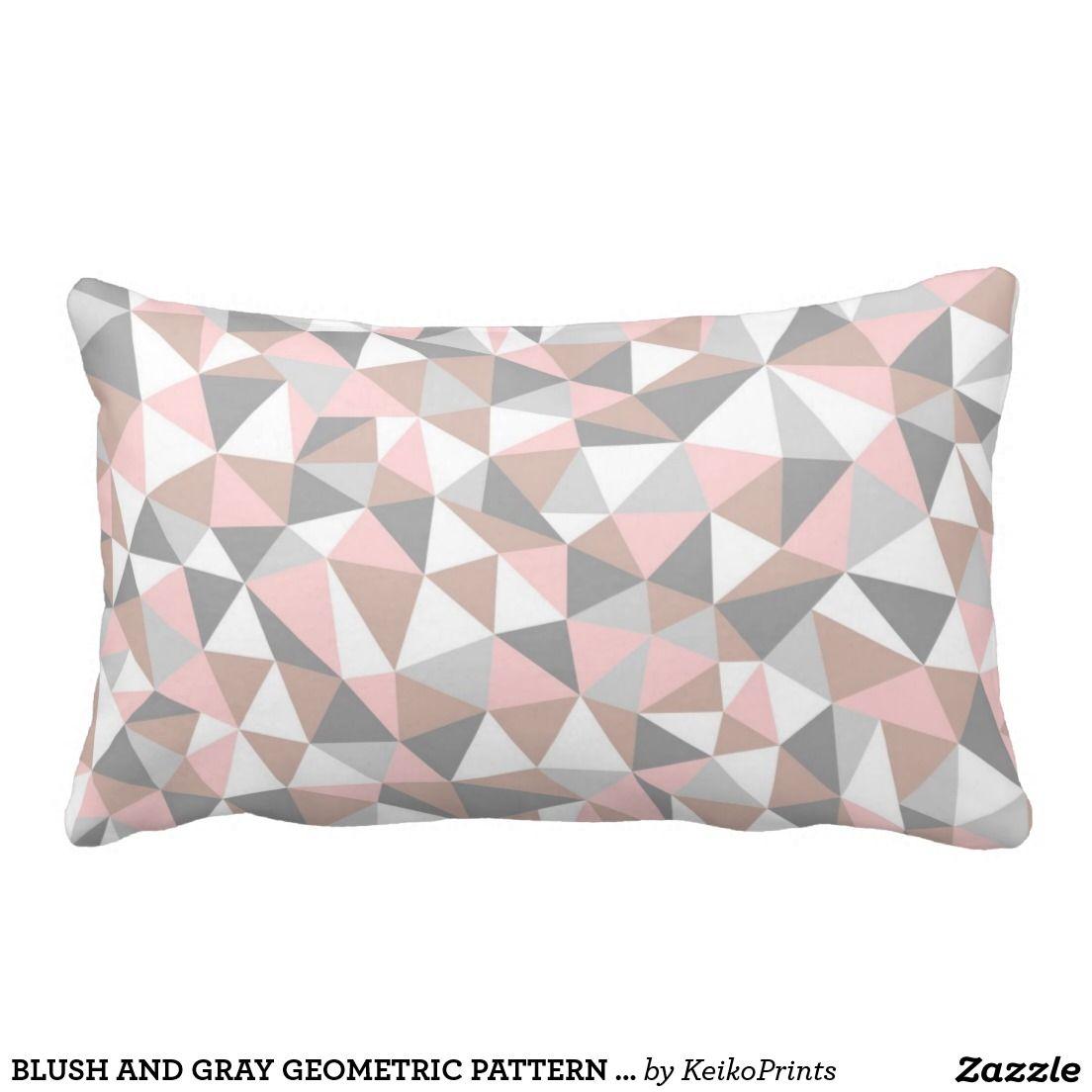 Blush And Gray Geometric Pattern Pillow Zazzle Com Pillow Pattern Pink And Grey Cushions Patterned Throw Pillows