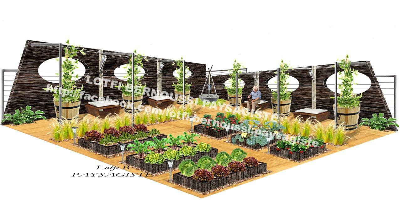 Jardin potager chic et moderne my 3d landscape design for Plan 3d jardin