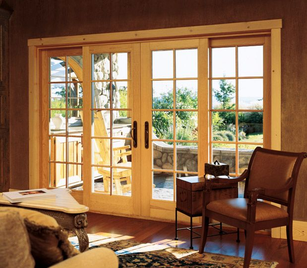 The Marvin Ultimate Bi Parting Sliding French Door In Our Showroom In Asbury Park Nj Sliding French Doors French Doors Sliding Patio Doors