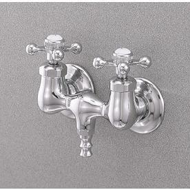 Cheviot Chrome 2 Handle Wall Mount Bathtub Faucet Valve Included