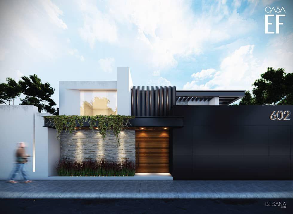 Propuesta de fachada exterior 1 casas de estilo for Fachadas estilo minimalista casas