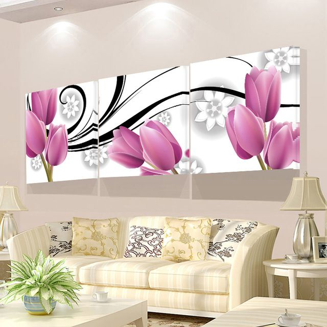 No Frame Wall Pictures For Living Room 3 Piece Canvas Painting For Living Room Wall Oil Art P Living Room Pictures Living Room Decor Inspiration Frames On Wall
