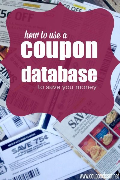 How To Save Money With A Coupon Database Saving Money Couponing For Beginners Saving Money Budget