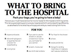 What to bring to the hospital checklist! Visit us at: http ...