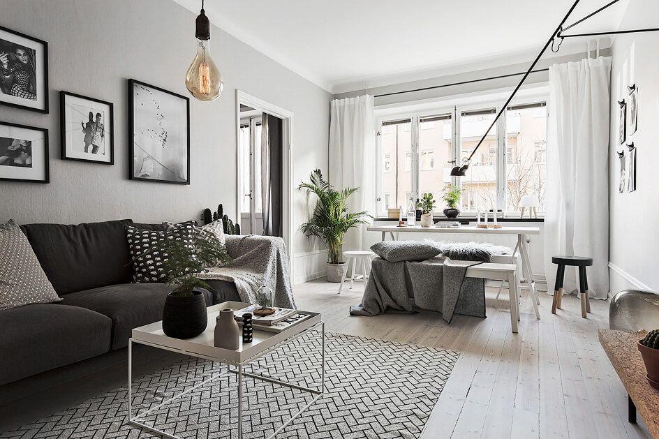 Die Hausboot Inneneinrichtung im Wohnzimmer mit Schrank und - wohnzimmer einrichten grau schwarz