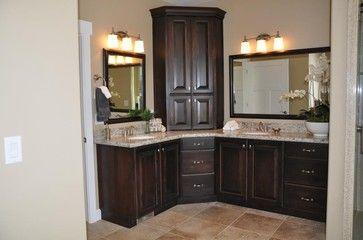 Corner Bathroom Vanity Cabinet.Dual Bathroom Sinks With Middle Cabinet Corner Vanity