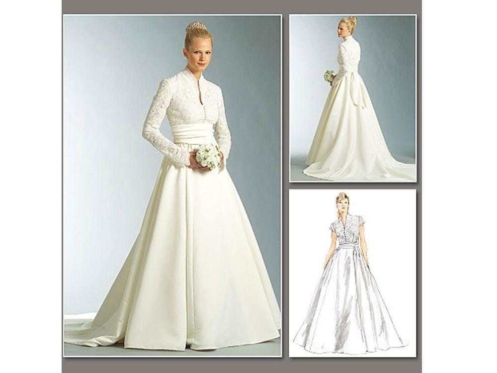 Schnittmuster Vogue 2979 Brautkleid | Brautkleid, Schnittmuster und ...