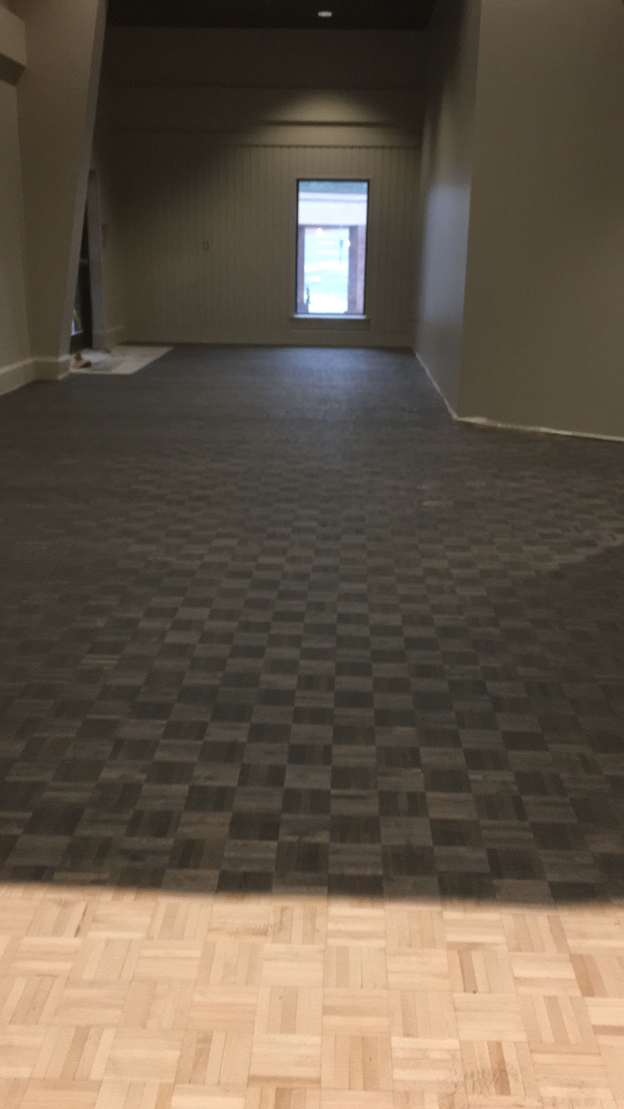 Classic Gray And Ebony Parquet Floors Refinishing Floors