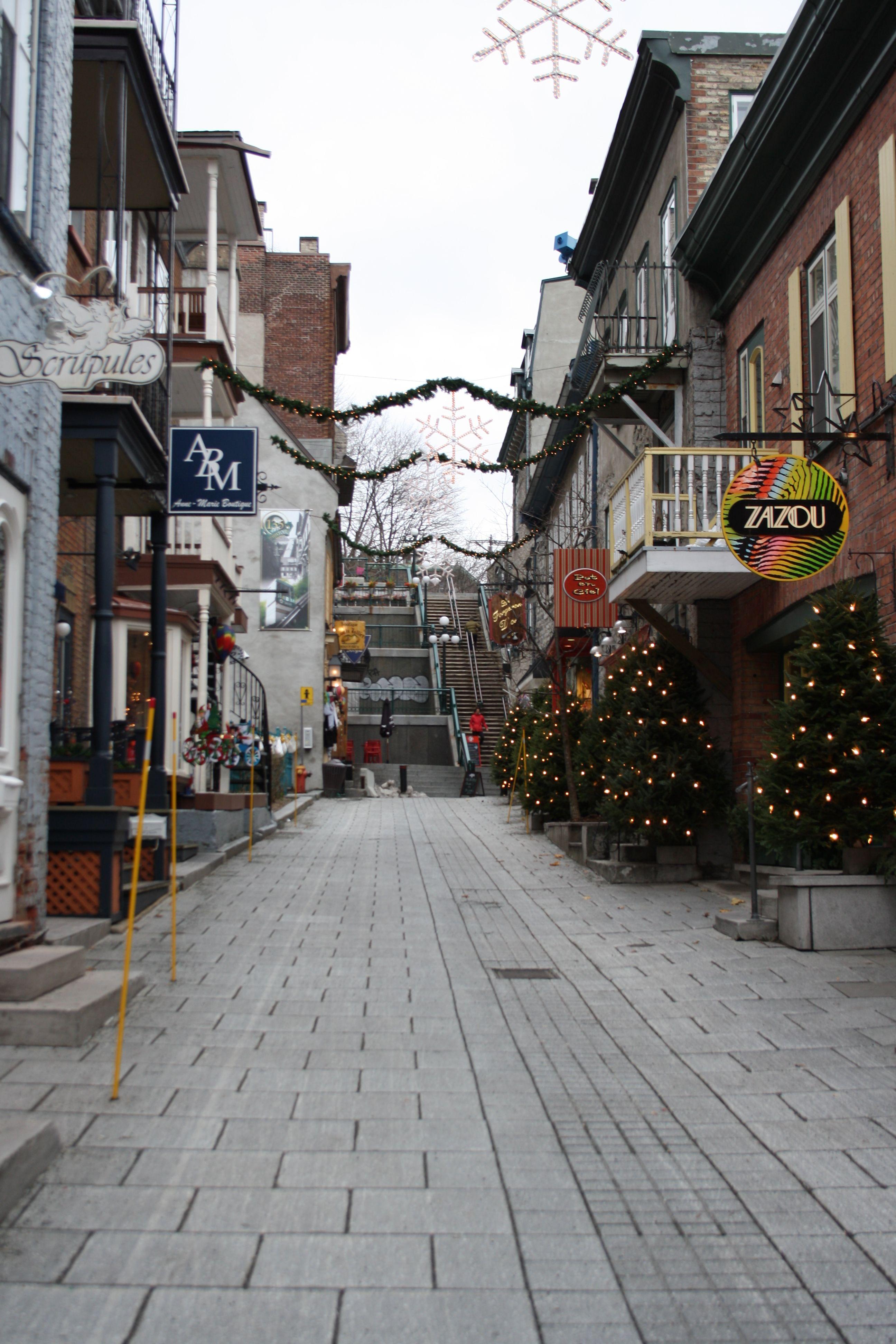Rue Du Petit Champlain Quebec City Quebec City Champlain City