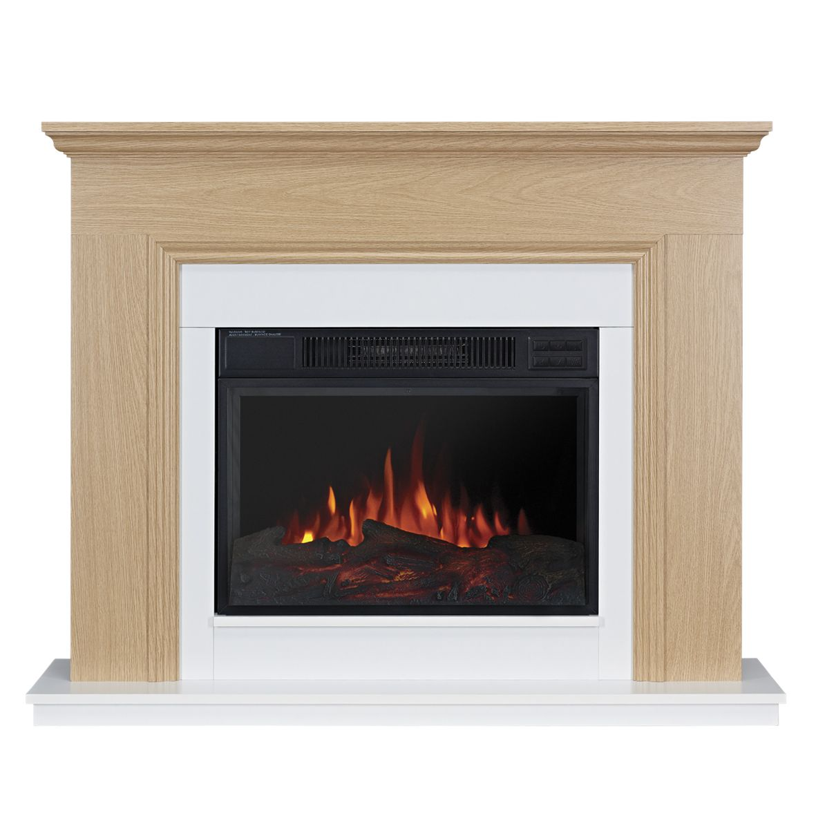 focal point malmesbury oak led electric fire suite electric fire