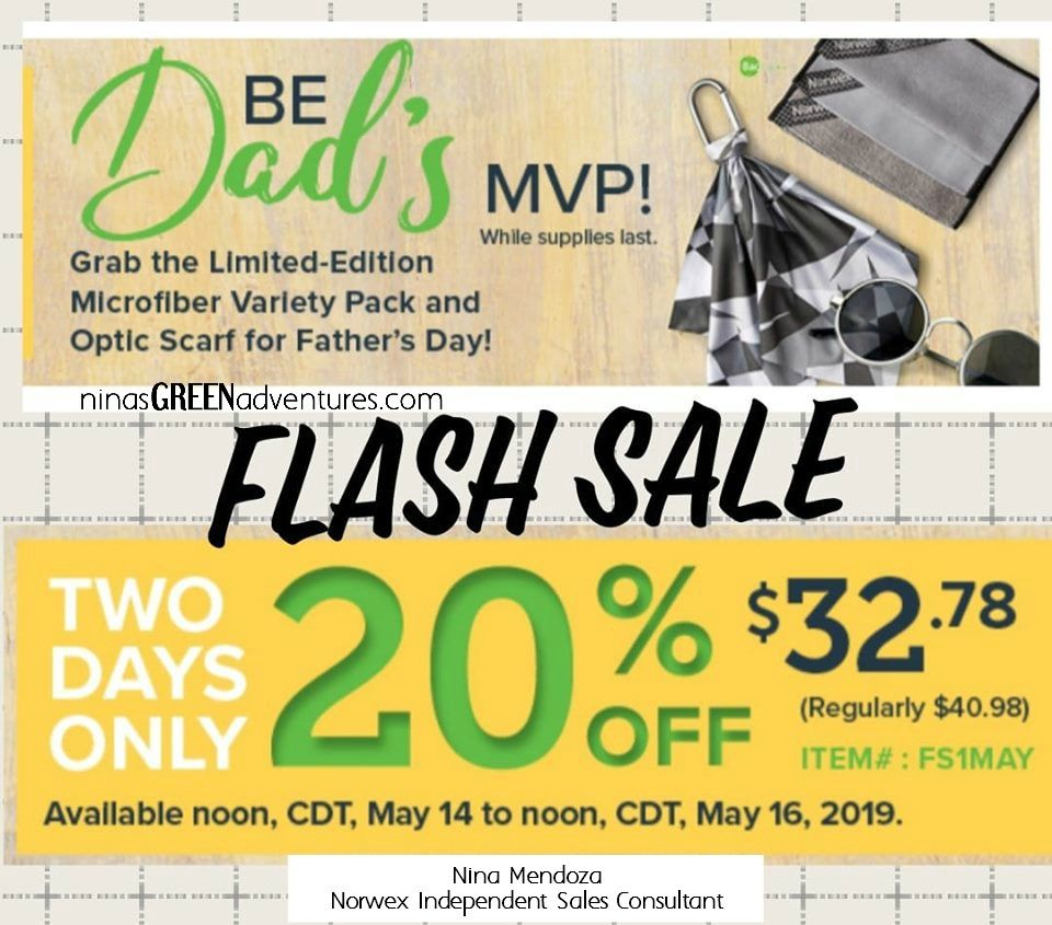Check out this amazing Father's Day Flash Sale Norwex is